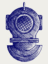 Old diving helmet Royalty Free Stock Photos
