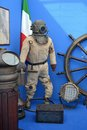 Old diving suit italian the shot has been taken during the mediterranean tall ships regatta in la spezia italy in october Royalty Free Stock Image