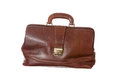 Old doctors bag antique doctor s in cowhide filled with medical instruments Royalty Free Stock Photos