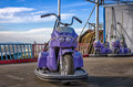 Old dodgem motorbike colorful and neglected Royalty Free Stock Photography