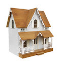 Old doll house isolated. Royalty Free Stock Photo