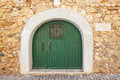 Old door arch gate in the old city of Faro. Royalty Free Stock Photography