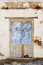 Old door detail of timber in rural building Royalty Free Stock Photo