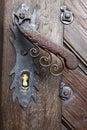 Old door doorhandle Royalty Free Stock Photo
