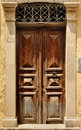 Old door facade in city of rethymno crete greece Stock Photo