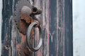 Old door handle Royalty Free Stock Photo