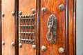Old door handle colonial style Royalty Free Stock Image