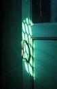 The old door handle in the dark room Royalty Free Stock Photo