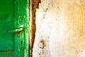 Old door handle detail Royalty Free Stock Photo