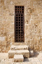 Old door harbour castle paphos cyprus Royalty Free Stock Images