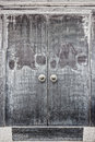 Old door of house in China