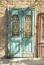 Old door in jersusalem israel Royalty Free Stock Photo