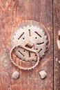 Old door knock with dust vintage Royalty Free Stock Images