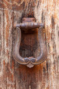 Old door knocker. Close-up Stock Images