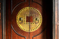 Old door and knocker Royalty Free Stock Photo