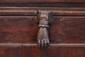 Old door knocker in the european city Stock Photos