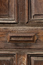 Old door and letterbox slot antigua guatemala in the house Royalty Free Stock Image