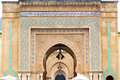 old door in morocco africa ancien   wall ornate blue Royalty Free Stock Photo