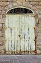 Old door in the old city of mdina malta Stock Image