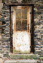Old door in old ruin metal Royalty Free Stock Photography