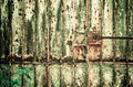 Old door porton deteriorated and rusted iron for time Royalty Free Stock Photography