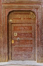 Old door of a traditional Moroccan house Royalty Free Stock Photo