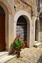 Old door in tuscany view of an an street at italy Royalty Free Stock Photo