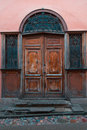Old door in Vilnius old-town, Lithuania Royalty Free Stock Photo