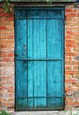 Old door and wall Royalty Free Stock Photos