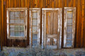 Old Door and Windows Stock Photography