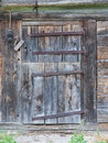 Old door in a wooden shed switzerland Royalty Free Stock Photography