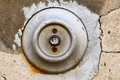 Old doorbell detail of the and damaged Royalty Free Stock Images