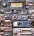 Old doorbells painting of the various mixed media Stock Photography