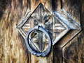 Old doorknocker at a historic building Royalty Free Stock Image