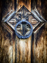 Old doorknocker at a historic building Royalty Free Stock Images
