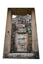 The old doors on the prasat phanom rung many city Stock Photography