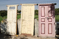 Old doors for sale hyderabad at the roadside in india Stock Images