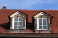 Old dormer and new window Royalty Free Stock Photo