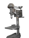 Old drill press isolated Royalty Free Stock Photography