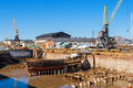 Old dry dock. Suomenlinna island, Finland Royalty Free Stock Photo