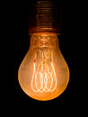 Old dusty light bulb Stock Images
