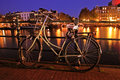Old dutch bike  in Amsterdam in Netherlands Stock Image