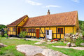 Old dutch house on Christianso Island Royalty Free Stock Image