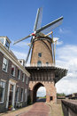 Old dutch mill in wijk bij duurstede in the netherlands Royalty Free Stock Images