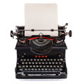 Old Dutch type writer with paper sheet Royalty Free Stock Photo