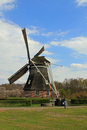Old Dutch windmill in countryside Royalty Free Stock Photo