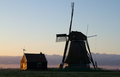 Old dutch windmill traditional in morning light Stock Image
