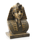 Old egyptian pharaoh statue isolated on white Royalty Free Stock Photos