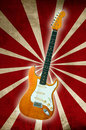 Old electric guitar Royalty Free Stock Images
