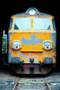 Old electric locomotive front view of Royalty Free Stock Image
